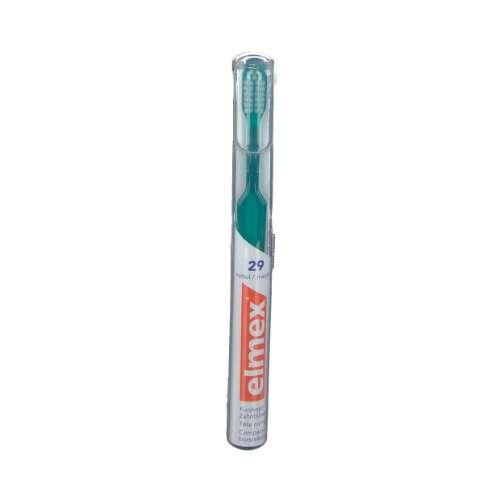 ELMEX 29 Zahnbürste im Köcher und sensitive 29