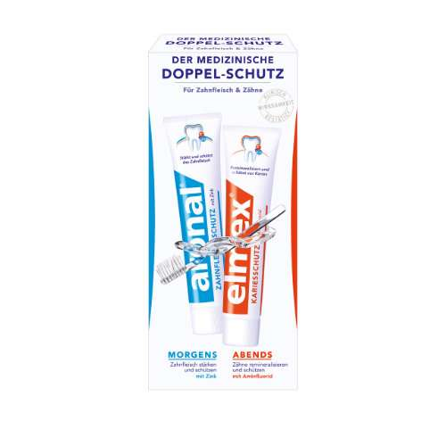 ARONAL/ELMEX Doppelschutz Zahnpasta 2 x 75 ml