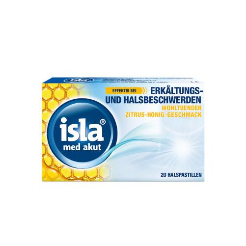 ISLA MED akut Zitrus-Honig Pastillen + versch.